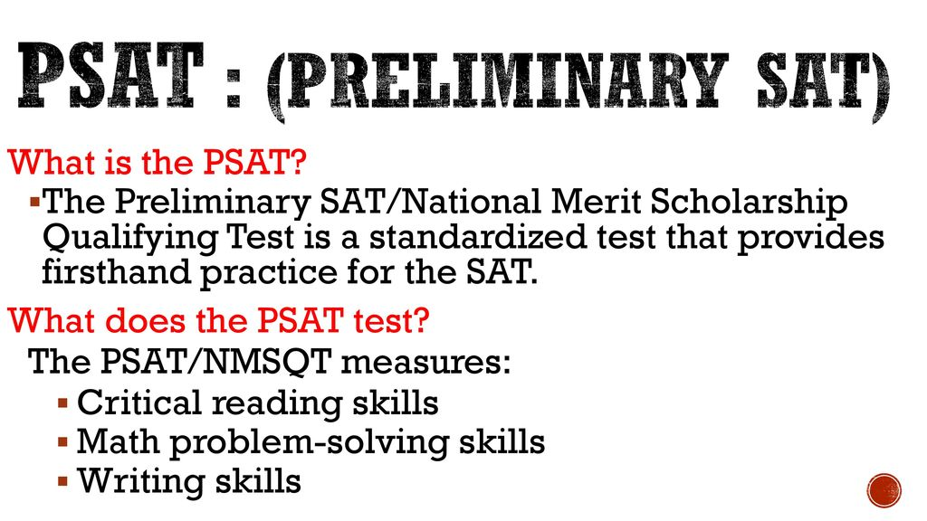 psat you honor student should take it ppt download