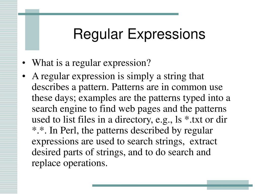 Regular Expressions and perl - ppt download