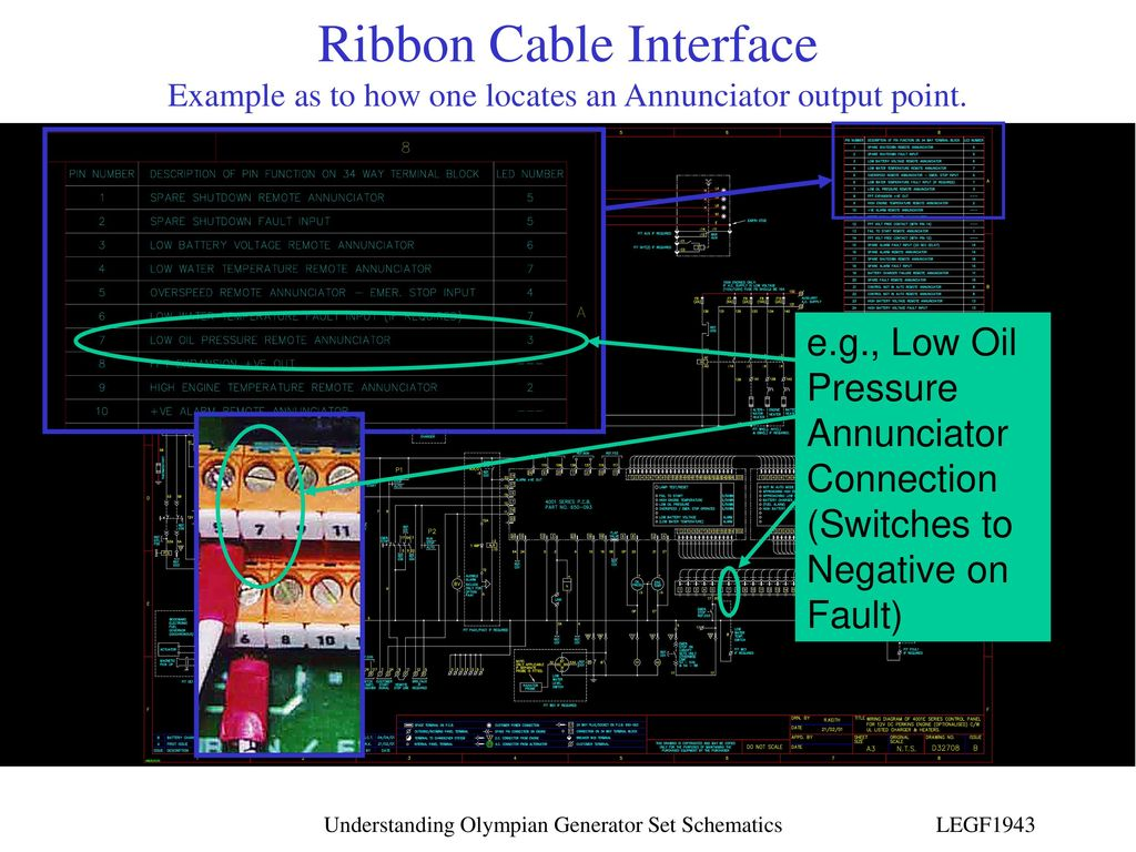 Understanding Olympian Generator Set Schematics Ppt Download Ribbon Cable Schematic 17