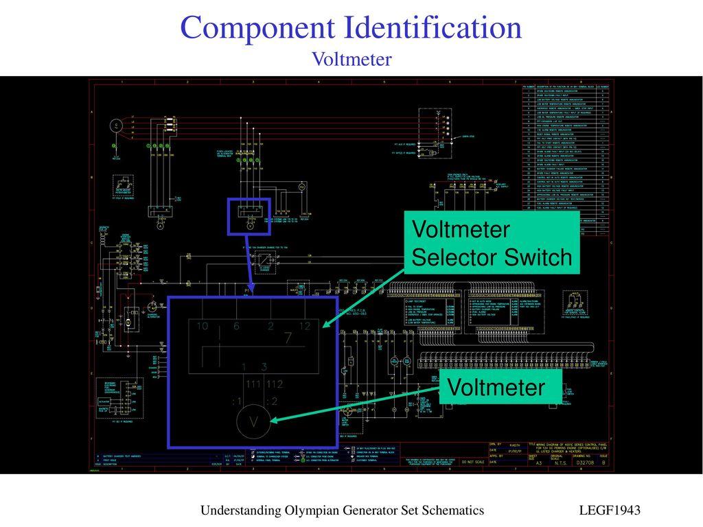 Understanding Olympian Generator Set Schematics Ppt Download Voltmeter Schematic Component Identification