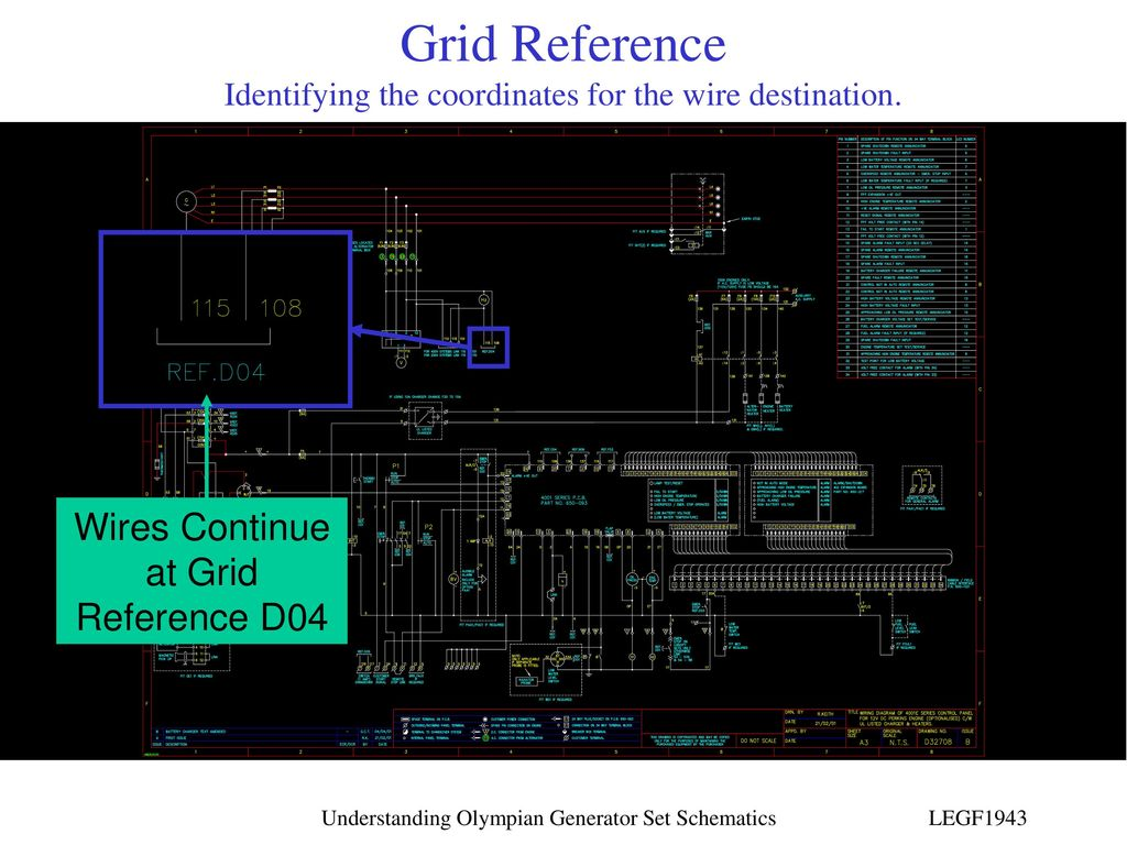 Understanding Olympian Generator Set Schematics Ppt Download Genset Wiring Diagram Legf1943 Grid Reference Identifying The Coordinates For Wire Destination