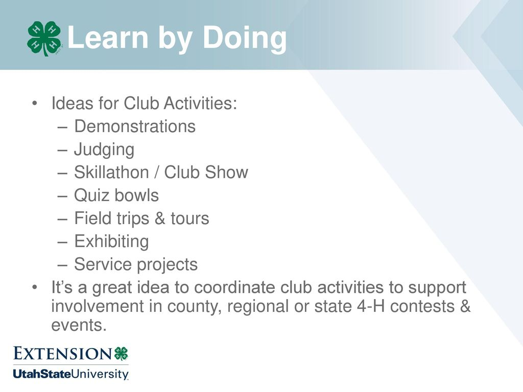 Leading a Successful 4-H Club - ppt download