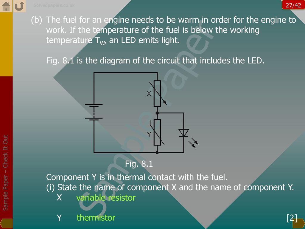 Cambridge Cie Physics Sample Paper Worked Out Ppt Download Yx Wiring Diagram 81 Is The Of Circuit That Includes Led