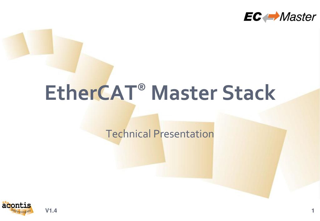 EtherCAT® Master Stack - ppt download