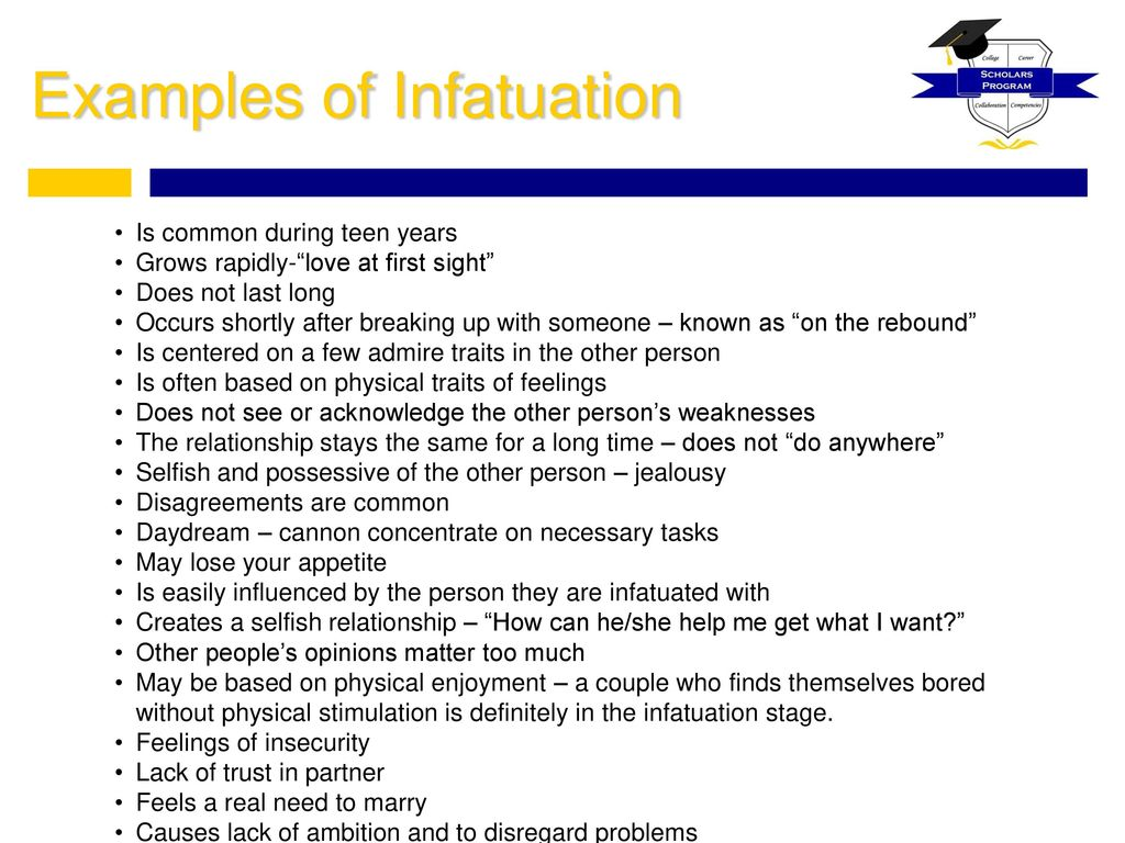 examples of infatuation