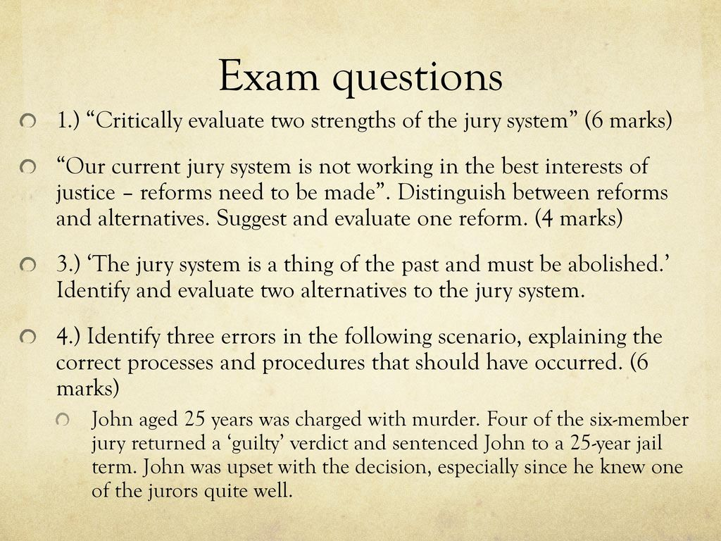 strengths of the jury system