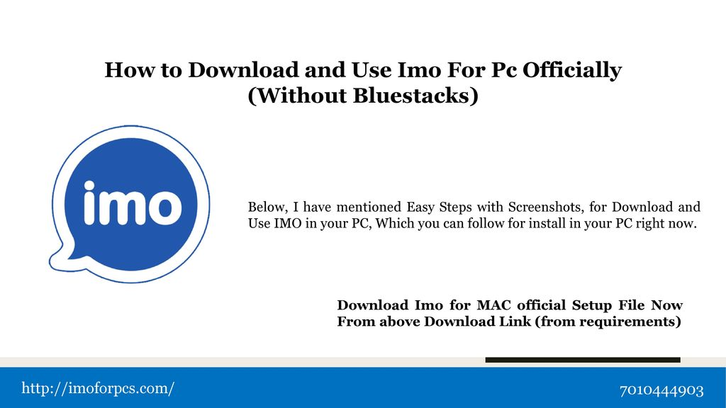 """IMO is a messaging and free video calling app """" - ppt download"""