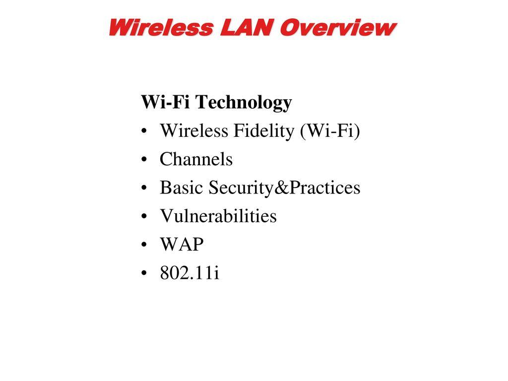 Wireless Lan Overview Wi Fi Technology Fidelity Circuit Diagram