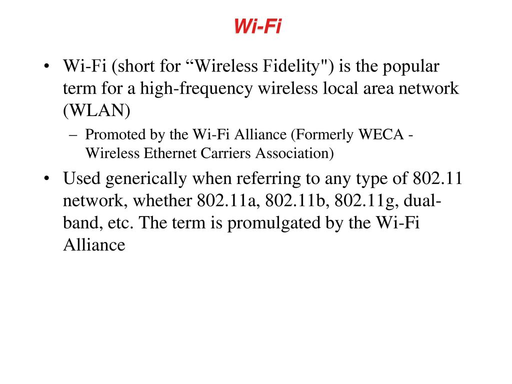 Wireless Lan Overview Wi Fi Technology Fidelity Circuit Diagram Short For Is The Popular Term