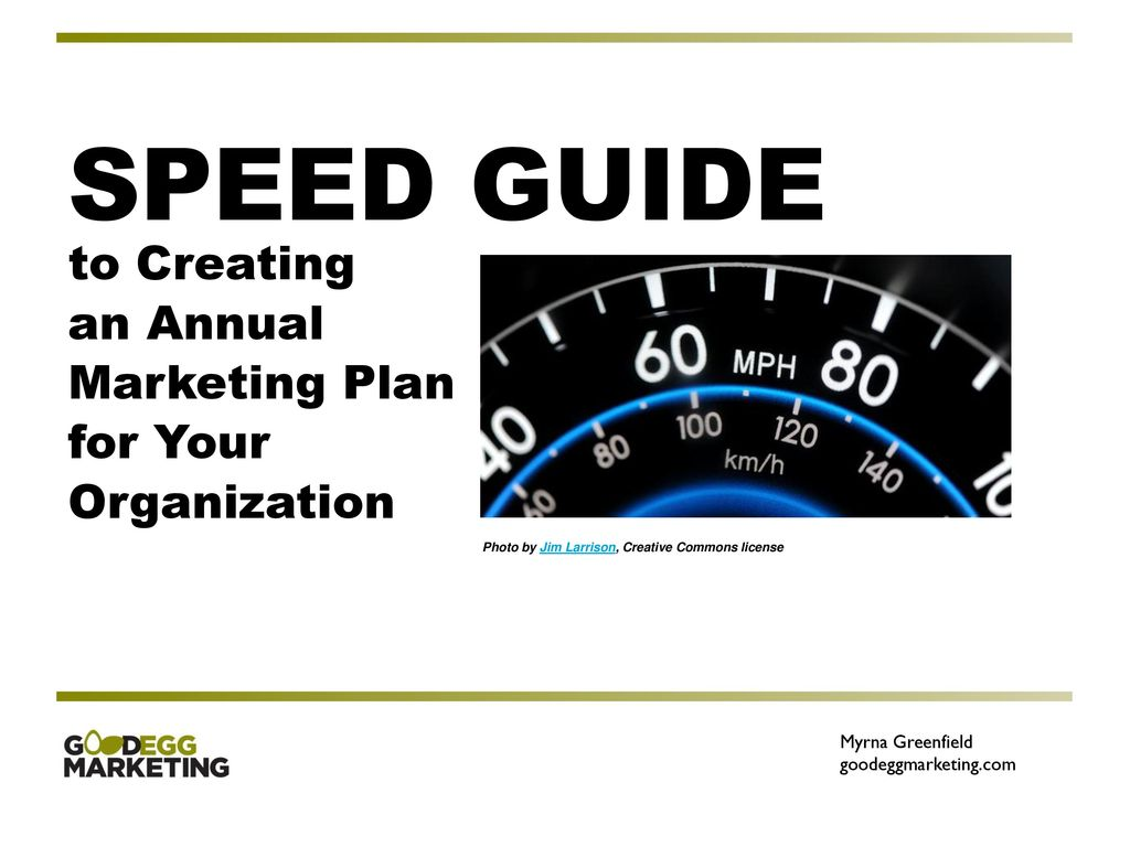 SPEED GUIDE to Creating an Annual Marketing Plan for Your
