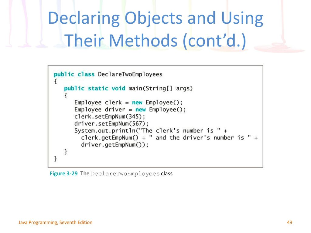 Chapter 3: Using Methods, Classes, and Objects - ppt download