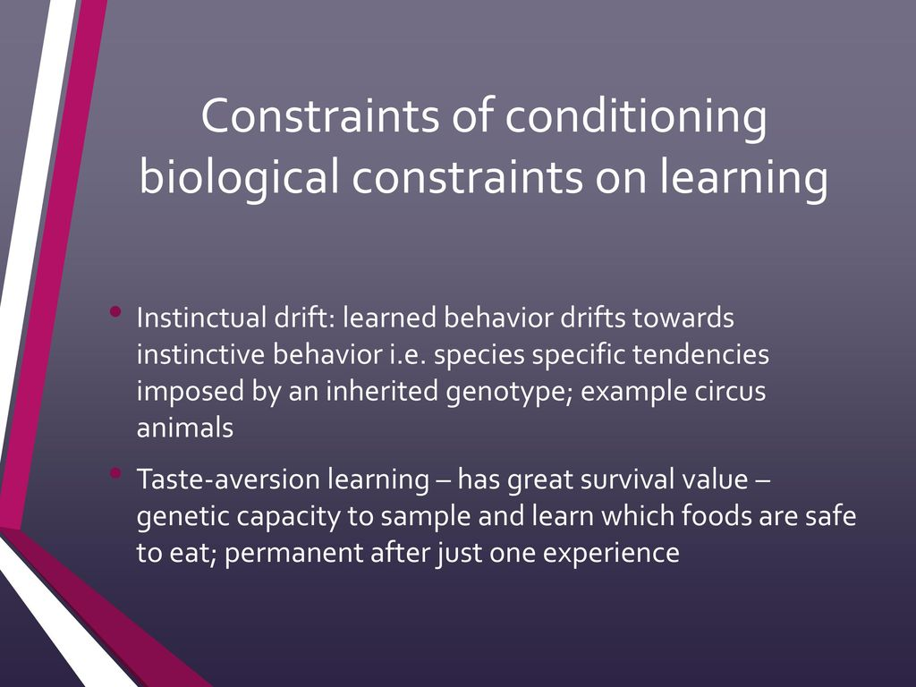 biological constraints on learning