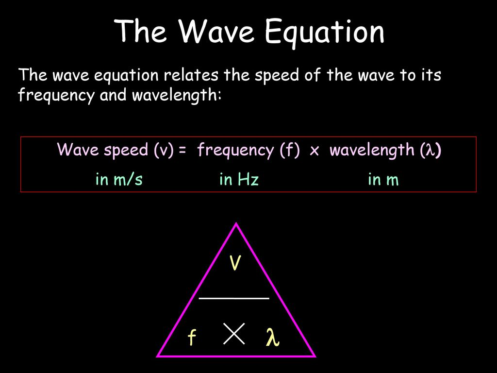 Waves By Neil Bronks Ppt Download Frequency Brighteners Guitar Effect Schematic Diagram Wave Speed V F X Wavelength