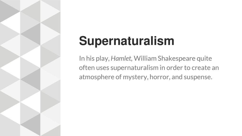 Supernatural elements in william shakespeares macbeth