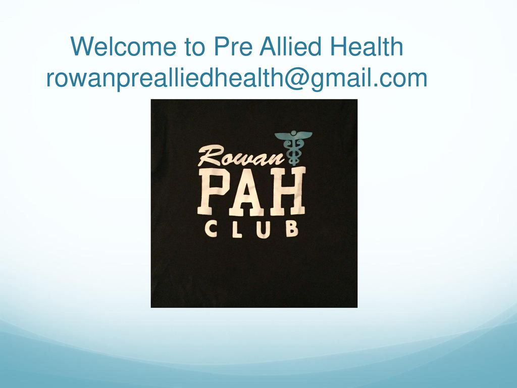 Welcome To Pre Allied Health Ppt Download