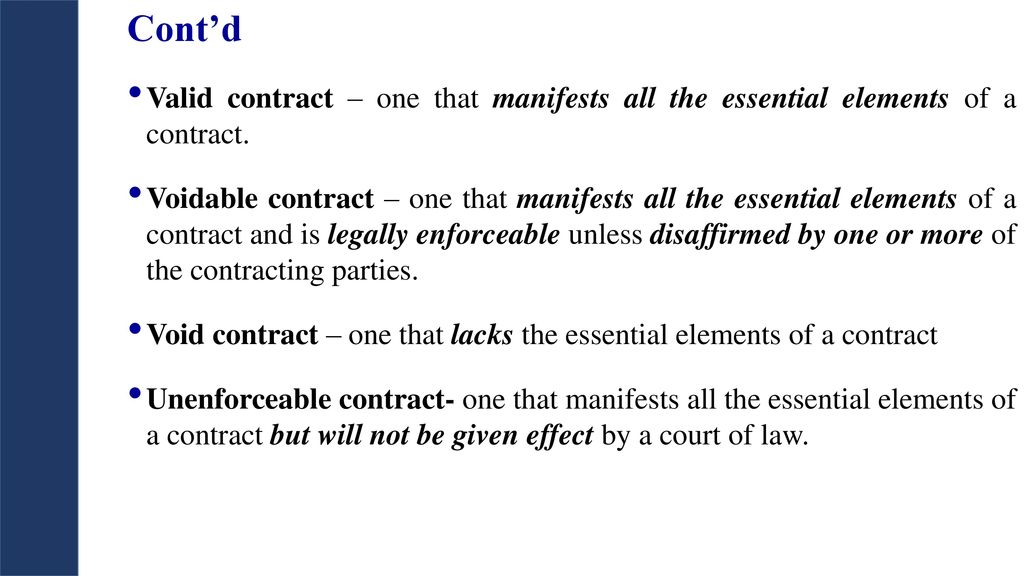 7 essential elements of a contract