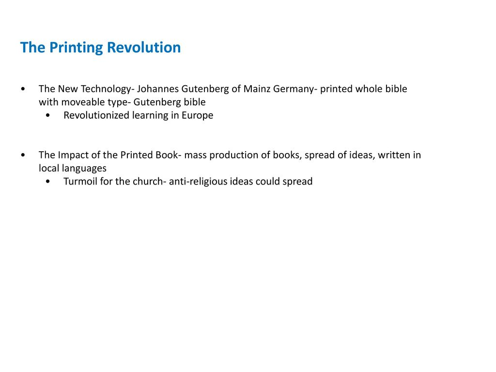 The Renaissance And Reformation 13001650 Ppt Download Johannes Gutenberg Printing Press Diagram Revolution