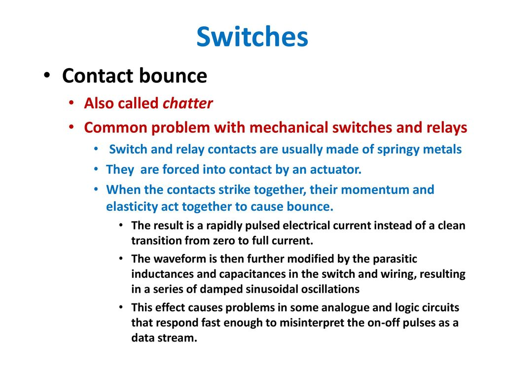 Switches And Pushbuttons Ppt Download Relay Switch Debounce 11 Contact Bounce