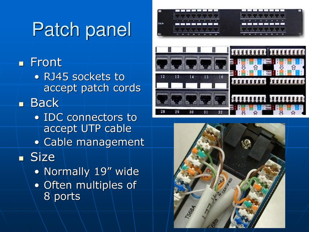 Structured Cabling What Why How Ppt Download 568b Wiring Patch Panel 15