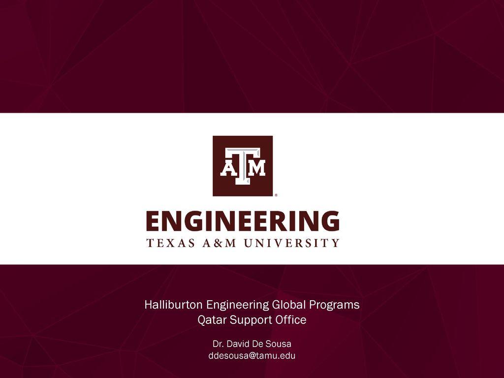 Halliburton Engineering Global Programs - ppt download