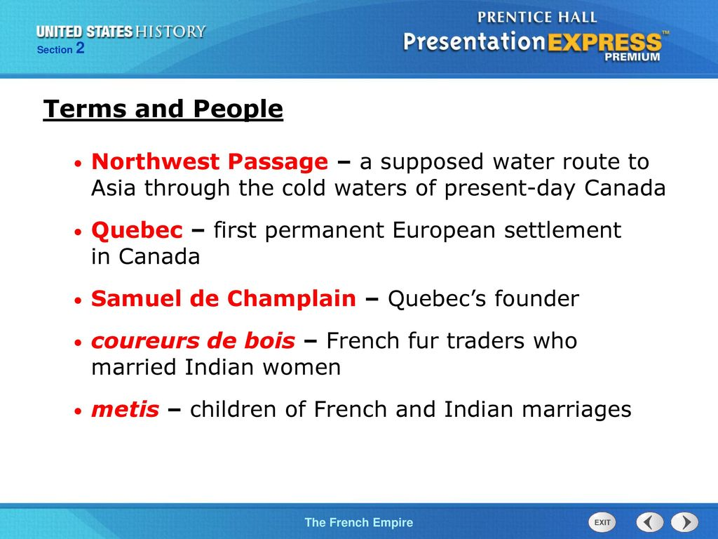 Objectives Explain how the fur trade affected the French and the