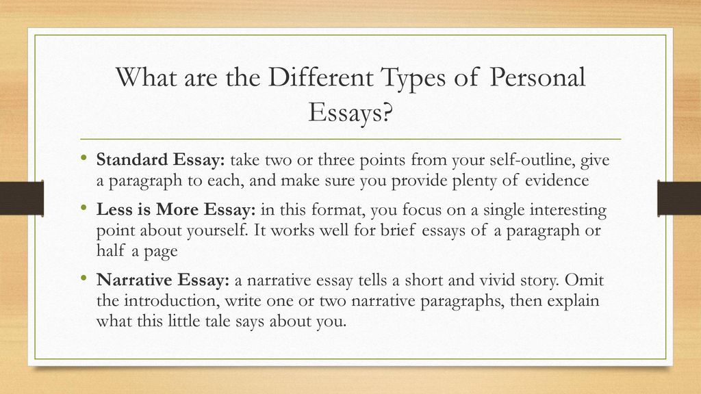 basic types of personal essays