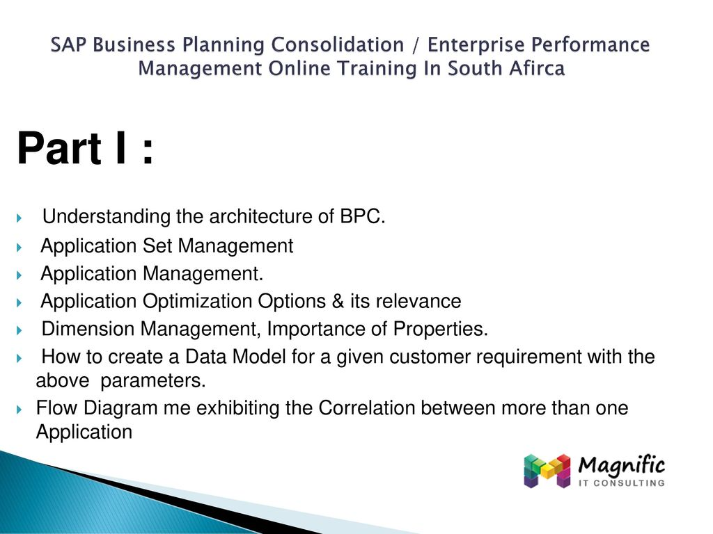 SAP Business Planning Consolidation / Enterprise Performance