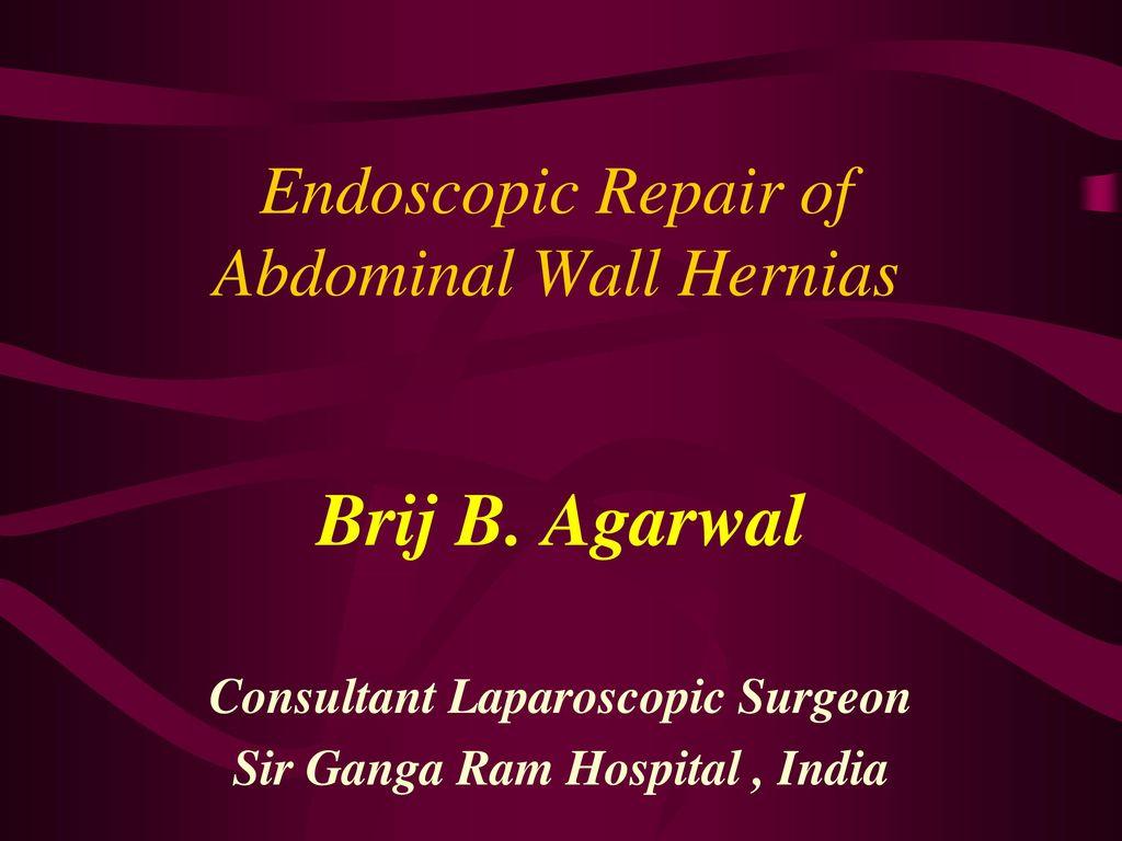 Endoscopic Repair of Abdominal Wall Hernias