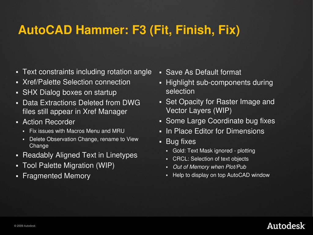 "AutoCAD ""Hammer"" Experience Ideas Before They're Real  - ppt download"