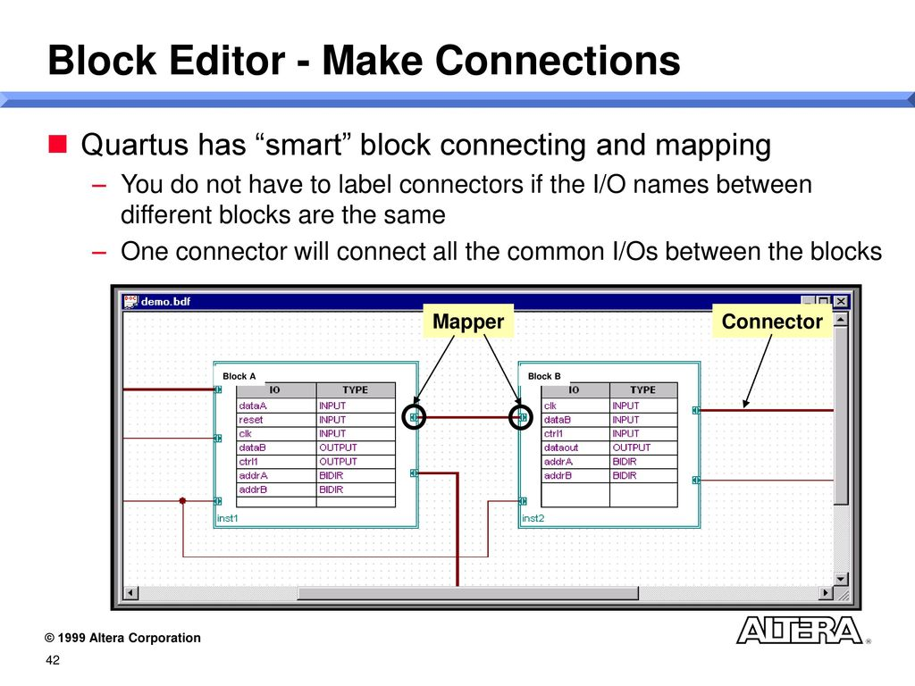 Introduction To Quartus And The Apex 20k Device Family Ppt Download 2 Block Diagram Tutorial Editor Make Connections