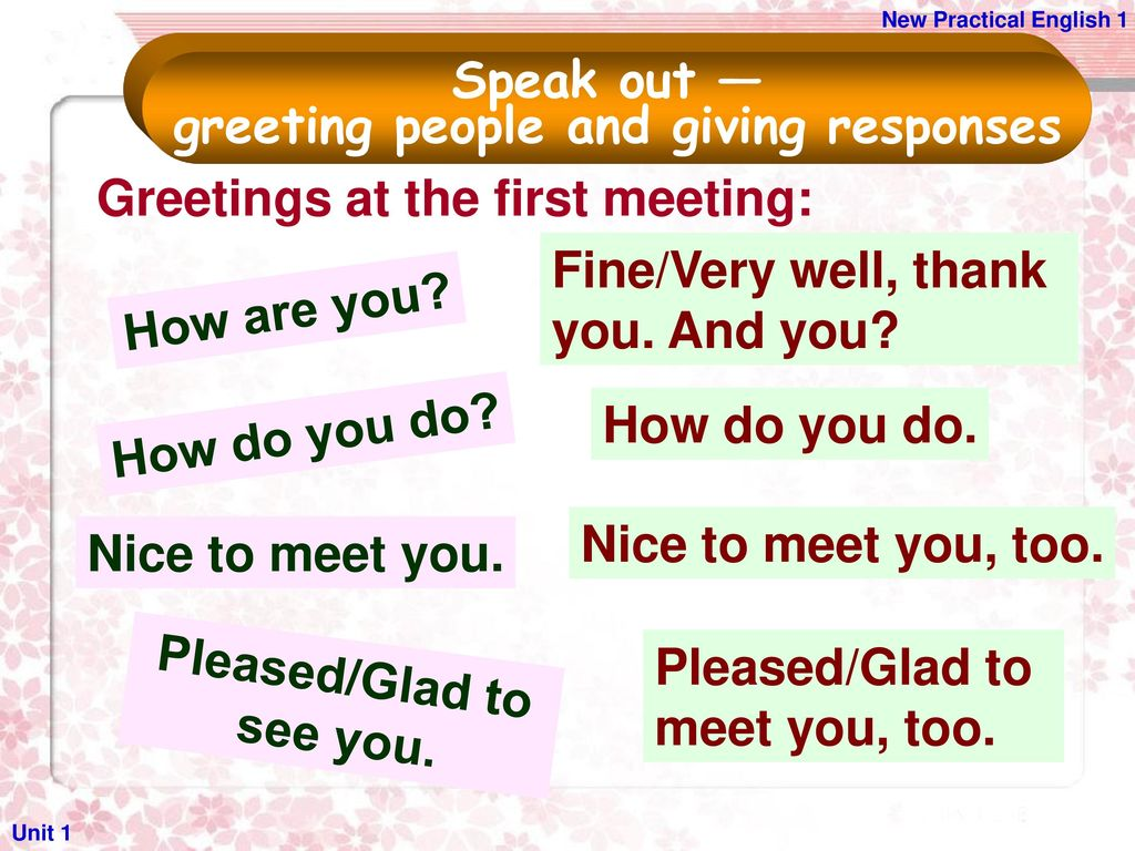 Unit 1 Greeting And Introducing People Ppt Download