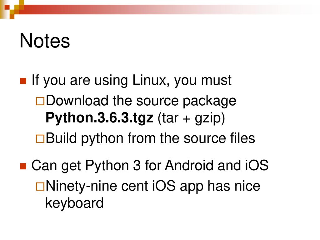 INSTALLING PYTHON 3 COSC 1306 Fall ppt download