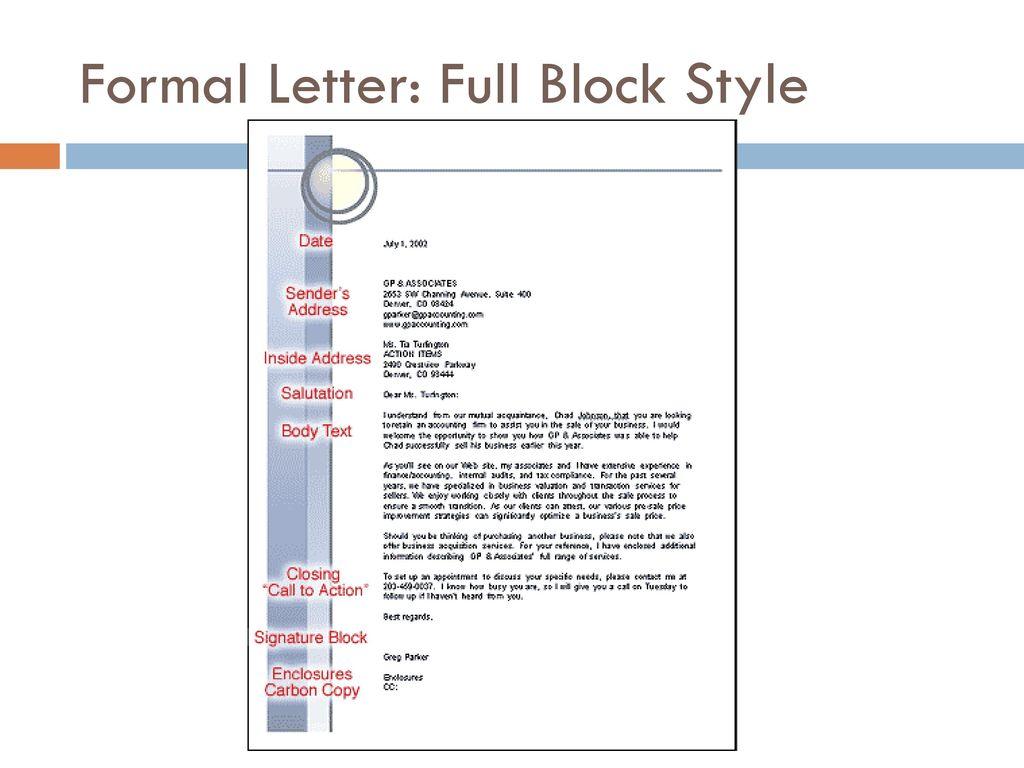 9 formal letter full block style
