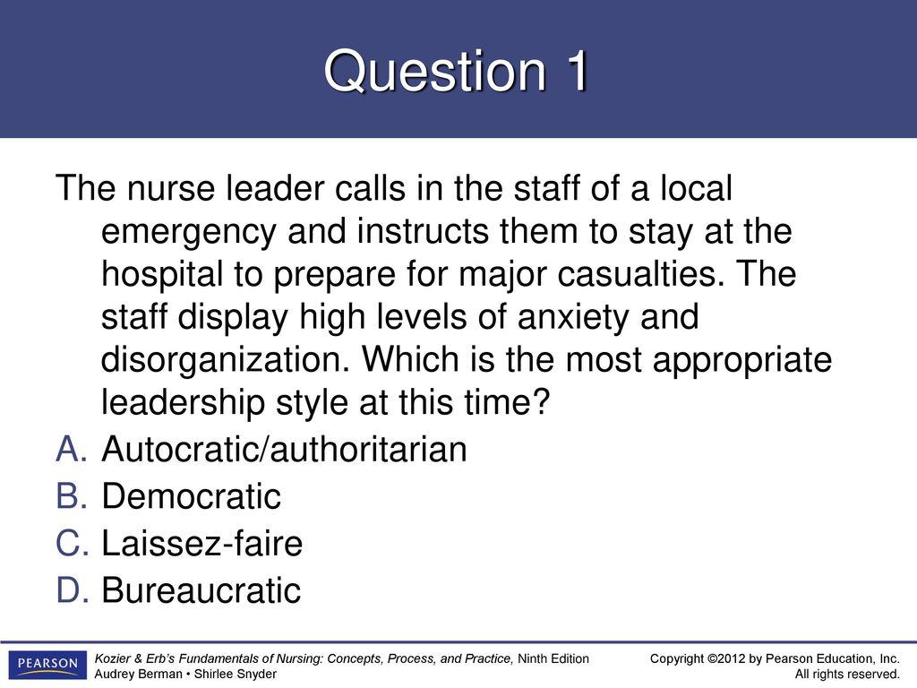 bureaucratic leadership style in nursing