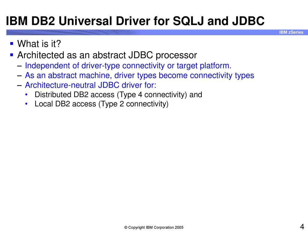 ibm db2 jdbc driver jar