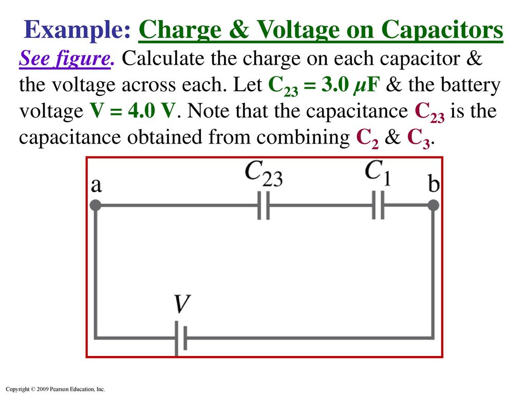 Capacitors In Series Parallel Ppt Download Solution The 1uf Capacitor And 2uf Combine Example Charge Voltage On