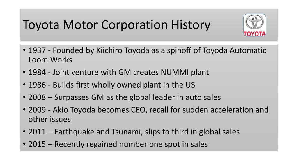 Leadership Styles At General Motors And Toyota Ppt Download