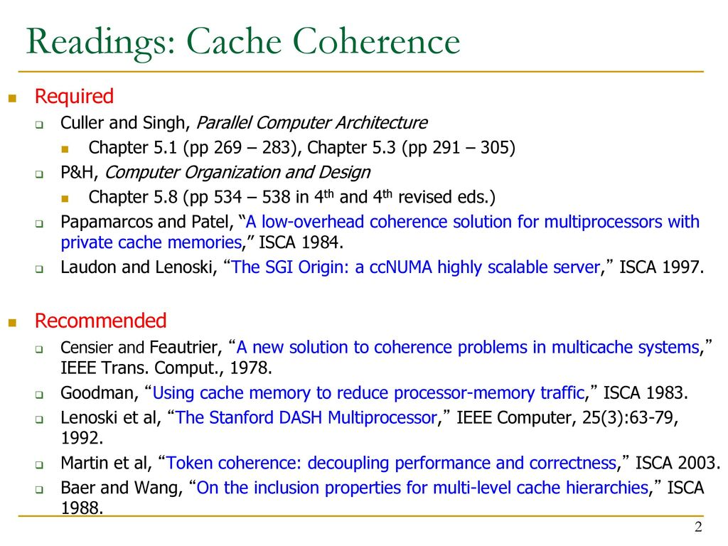 Computer Architecture Cache Coherence Ppt Download