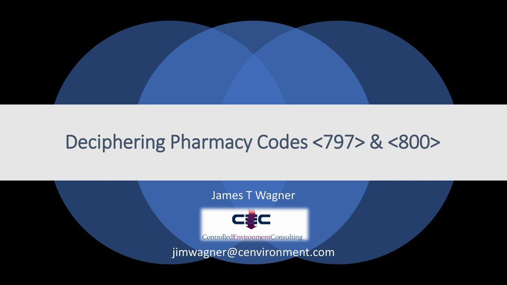 Deciphering Pharmacy Codes <797> & <800> - ppt download