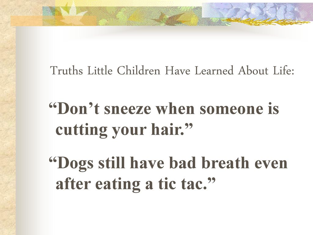 from the mouths of children - ppt download