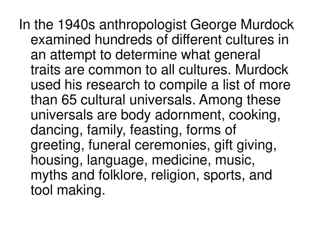 Sociology Ch 2 S 2 Cultural Variation Ppt Download