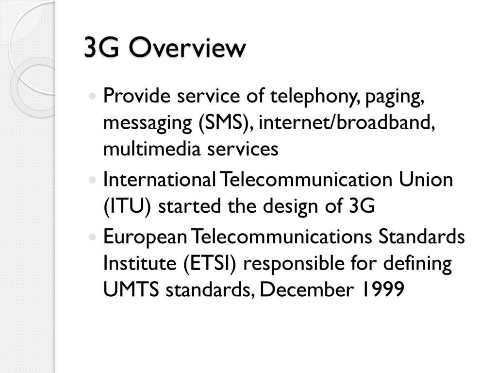 Universal Mobile Telecommunication System (UMTS) - ppt download