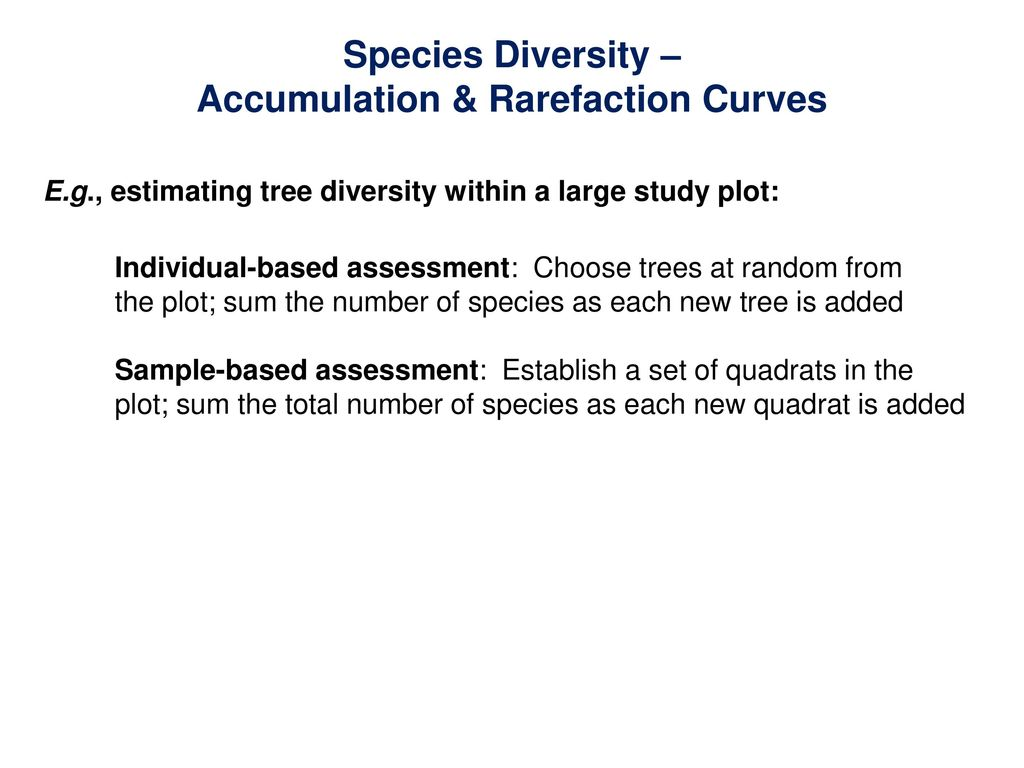 Community-Level Patterns: Species Richness & Diversity - ppt