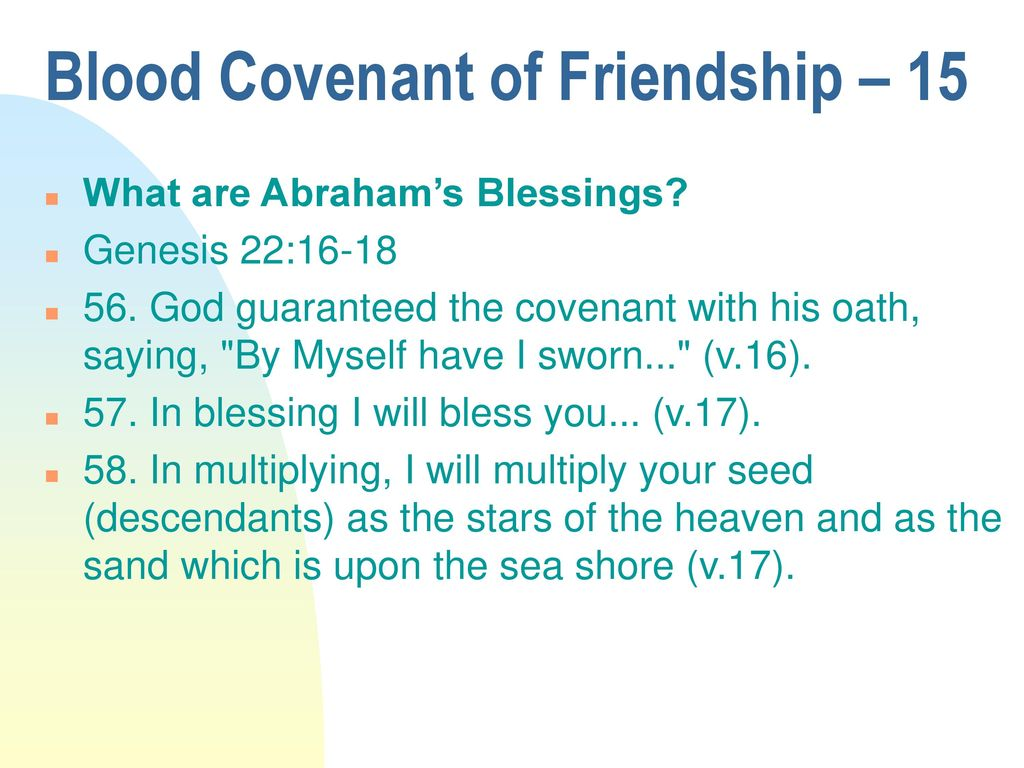Blood Covenant of Friendship - ppt download