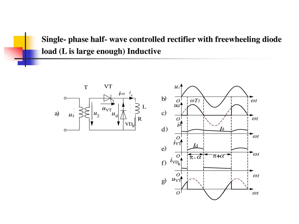 Ac To Dc Converters Outline 21 Single Phase Controlled Rectifier Threephase Halfwave Circuit With R Load Half Wave Freewheeling Diode