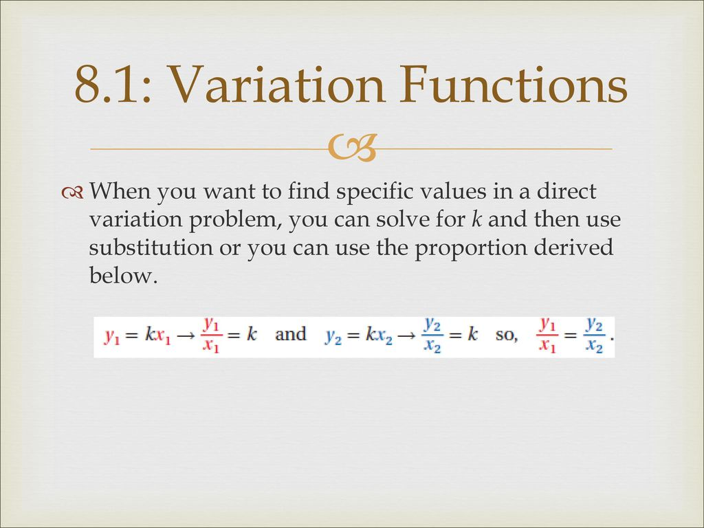 Chapter 8 Rational Radical Functions Ppt Download