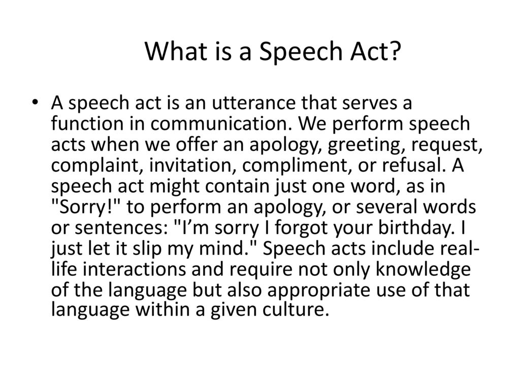 Speech Acts Ppt Download