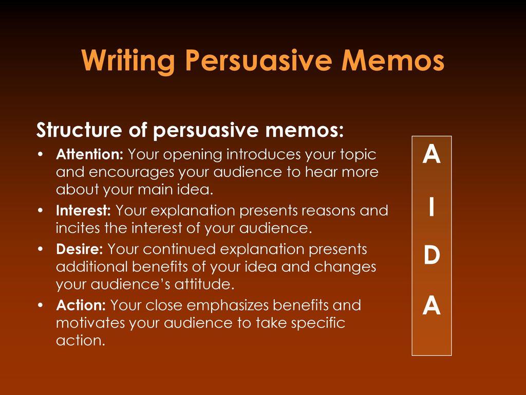 writing persuasive memos