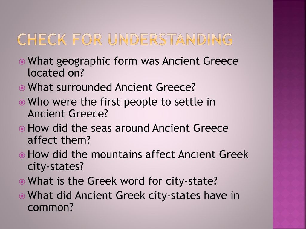 how did mountains affect ancient greece