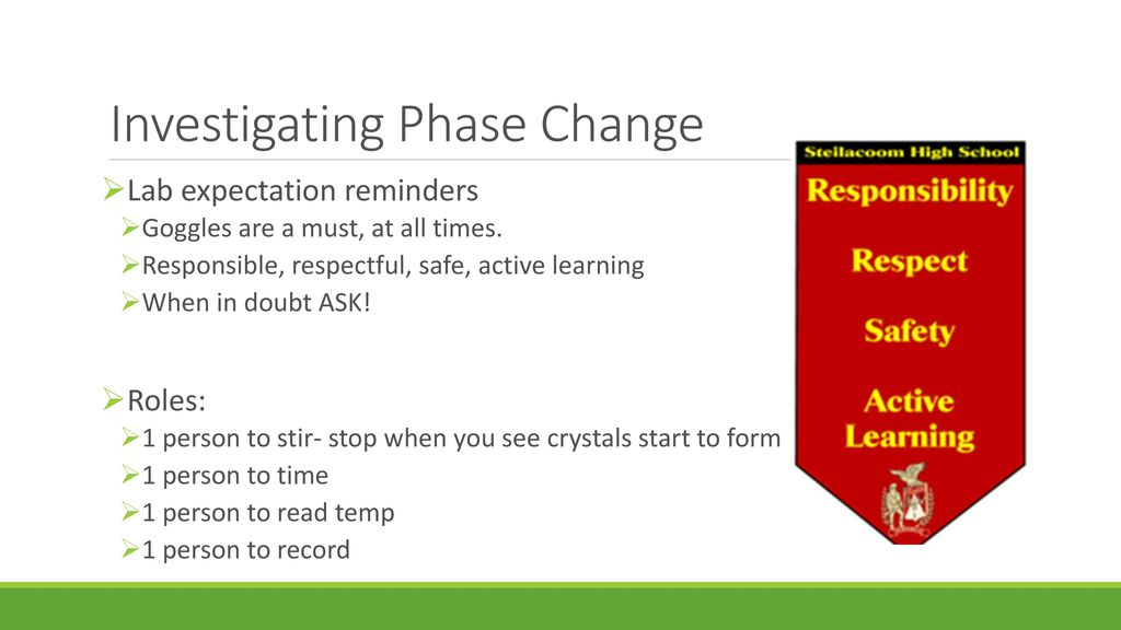 phase change lab high school